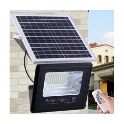 Градински соларен LED комплект FOYU 8860, Соларен панел, LED прожектор, Дистанционно управление, 60 W