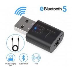 Блутут USB Аудио приемник - предавател 2 в 1 мини, 3.5mm жак, за TV, Кола, Компютър