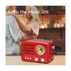 Ретро FМ радио Meier M-160BT с USB, SD, BT и AUX вход
