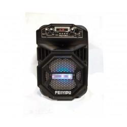Тонколона с вграден акумулатор, МП3 плейър от SD карта и флашка, Блутут и безжичен микрофон за караоке FEYIPU ES-11-6S