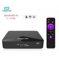 Мултимедиен плеър за гледане на безплатна ТВ и филми MAGICSEE N5, 4K, Android 7.1.2, Amlogic S905X, DDR3 2GB, 16GB, Wifi