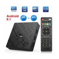 Мултимедиен плеър за гледане на безплатна ТВ и филми HK1, 4K, Android 8.1, RK3229 Quad Core, DDR3 2GB, 16GB, Wifi