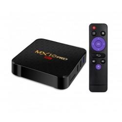 Мултимедиен плеър за гледане на безплатна ТВ и филми TV Box MX10 Pro, 4K, Android 9.0, Penta-Core mali-450, SDRAM 4GB, FLASH 32B, WiFi
