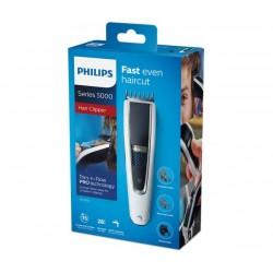 Philips Машинка за подстригване series 5000 Технология Trim-n-Flow PRO, 28 настройки за дължина (0,5 – 28 мм), 75 мин безкабелна употреба/8 ч зареждане, 100% миеща се