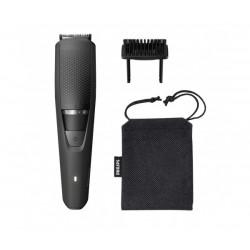 Philips Тример за брада Series 3000, 0.5 мм прецизни настройки, Изцяло метални ножчета, 60 мин. безжична работа/1 ч. зареждане, Система Lift & Trim