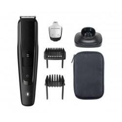 Philips Тример за подстригване на брада series 5000 0,2 mm прецизни настройки, Самонаточващи се метални ножчета, 60 мин. безжична работа/1 ч. зареждане, + Тример за нос NT1150