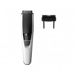 Philips Тример за брада Series 3000, 1 мм прецизни настройки, ножчета от неръждаема стомана, 45 мин. безжична работа/10 ч. зареждане, Система Lift & Trim