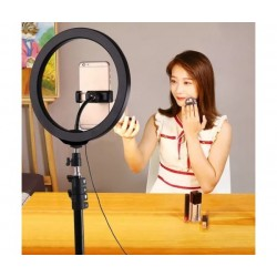 "Универсална селфи ринг стойка със светкавица за мобилен телефон Ring Fill Light 10"""