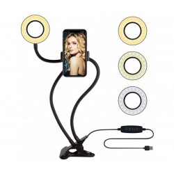 Универсална селфи ринг стойка със светкавица за мобилен телефон Professional Live Stream