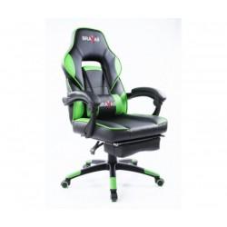 Геймърският стол BRAVAS CH-Y1207E-1G Черно-Зелен