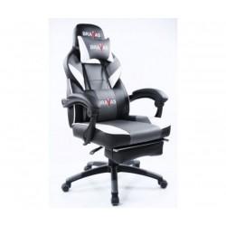Геймърският стол BRAVAS CH-Y1208E-1GW Черно-Бял-Сив