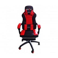 Геймърският стол BRAVAS OS-7931 Черно-Червен