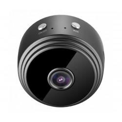 Мини шпионска камера Smart Technology IP Cam, WiFi, Нощно виждане, Детектор за движение, Черна