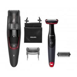 Philips Тример за брада с вакуум series 7000 0,5 мм прецизни настройки, Самонаточващи се метални ножчета, 60 мин употреба/1 час зареждане, Вкл. тример за тяло BG105
