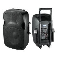 """Мощна тонколона Telstar Alien 15"""" с усилвател, вграден акумулатор, Bluetooth, МП3 плейър, безжични микрофони"""