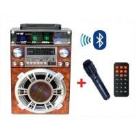 Голяма MP3 караоке уредба с микрофон, дистанционно и Bluetooth NNS NS-8006-BT