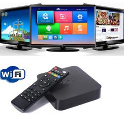 Андроиден мултимедиен плеър за гледане на безплатна ТВ и филми MXQ TV Box