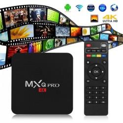 Андроиден мултимедиен плеър за гледане на безплатна ТВ и филми MXQ Pro 4K Android TV Box