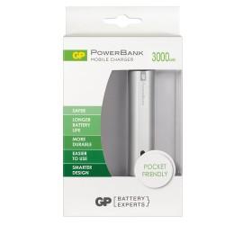 Външна батерия GP power bank GPFN03001 3000mAh Li-Ion за смартфон сребриста