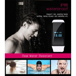 Фитнес гривна с пулсомер умен часовник Smart Bracelet D21