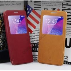 Kожен Калъф Тип Тефтер Flip Cover Terse Leather Case За Samsung I9100 Galaxy Note 4