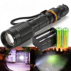 Супер мощен акумулаторен фенер с CREE LED диод 100000W Zoom T6 Model 019