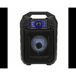 Мощна Bluetooth ударо и влагоустойчива диско колона с вход за микрофон и Цветомузика EXTRA-BASS B-11