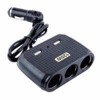 Разклонител на запалка 3 гнезда + 2 USB Olesson 1512