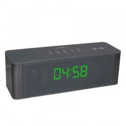 Мощна портативна блутут колона с радио и часовник BT Speaker AoDasen JY-28C