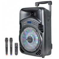 "8"" Тонколона за Караоке Zephyr Z-9999-D8 с вграден акумулатор, Bluetooth, МП3 плейър, 1 бр. безжичeн микрофон"