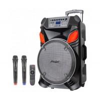 """12"""" Тонколона за Караоке Zephyr Z-9999-B12 с вграден акумулатор, Bluetooth, МП3 плейър, 2 бр. безжични микрофона"""
