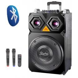 """15"""" Тонколона за Караоке Zephyr Z-9999-F15 с вграден акумулатор, Bluetooth, МП3 плейър, 2 бр. безжични микрофона"""