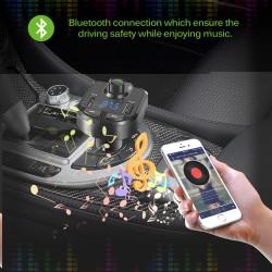 Автомобилен Bluetooth FM трансмитер с USB зарядно за GSM Bluetooth Car Kit BT36
