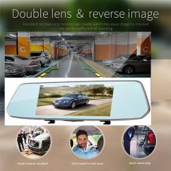 Огледало за задно виждане с вграден FULL HD видеорегистратор, камера за задно виждане и 7 инчов тъчскрийн монитор Rearview Mirror HD L1007