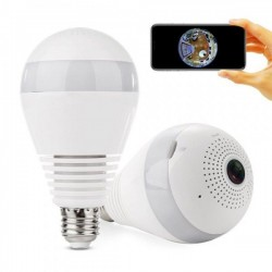 360 градуса IP WiFI камера скрита в крушка WiFi Smart Net Camera