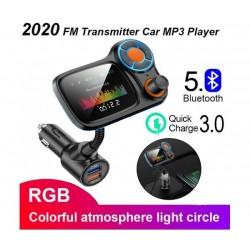 Автомобилен трансмитер Car Kit T831, Bluetooth, USB зарядно, TFT цветен дисплей