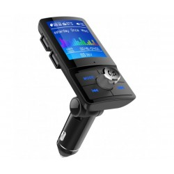 Автомобилен трансмитер Car Kit BC45, Bluetooth, USB зарядно, TFT цветен дисплей