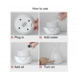 Увлажнител на въздух Mini Aroma Humidifier Sixu, LED подсветка