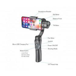 Ръчен стабилизатор за телефон Stabilized Gimbal H4, Контрол на увеличението, Авто проследяване