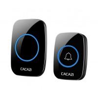 Безжичен звънец CACAZI A10, Водоустойчив, 300 метра, 36 мелодии, 3 нива на звука, LED индикатор