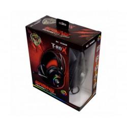 Гейминг слушалки за компютър с микрофон ROXPOWER T-ROX STGH707, Led подсветка