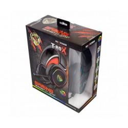 Гейминг слушалки за компютър с микрофон ROXPOWER T-ROX STGH381, Led подсветка
