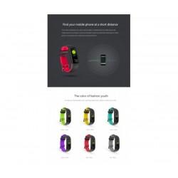 Влагоустойчива смарт гривна Smart technology G16, Пулс, Кръвно налягане