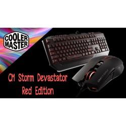 Геймърски комплект клавиатура с мишка CM Storm Devastator Red