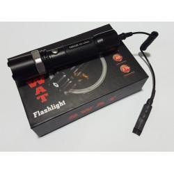 Мощен акумулаторен прожектор за Лов и Риболов със спусък SWAT CREE LED диод 350000W