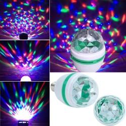 Диско крушка - многоцветна въртяща се - E27 6W