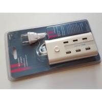 Мултифункционално USB зарядно устройство за телефони, теблети и др. устройства 6 в 1