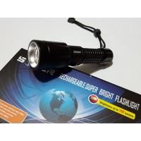 Супер мощен акумулаторен фенер с CREE LED диод 1800000W Zoom T6 SoFar