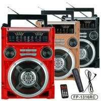Голяма MP3 акумулаторна  уредба с микрофон EPE FP-1316RC