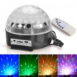 Диско лампа с усилвател, МП3 и дистанционно